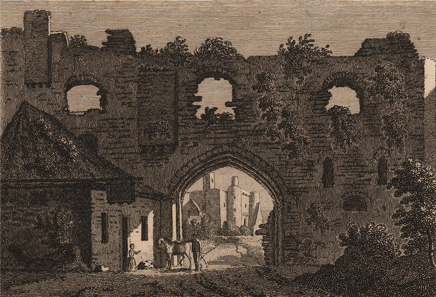Associate Product KIDWELLY CASTLE, Carmarthenshire, Wales. GROSE 1776 old antique print picture