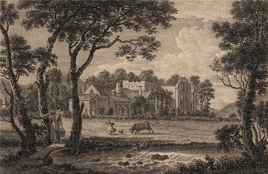 Associate Product LLANRWST, Denbighshire.Valle Crucis Abbey, Llan Egwiste or Llanegwast.GROSE 1776