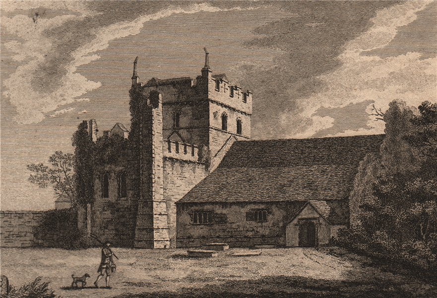 Associate Product EWENNY PRIORY, Glamorganshire, Wales. GROSE 1776 old antique print picture