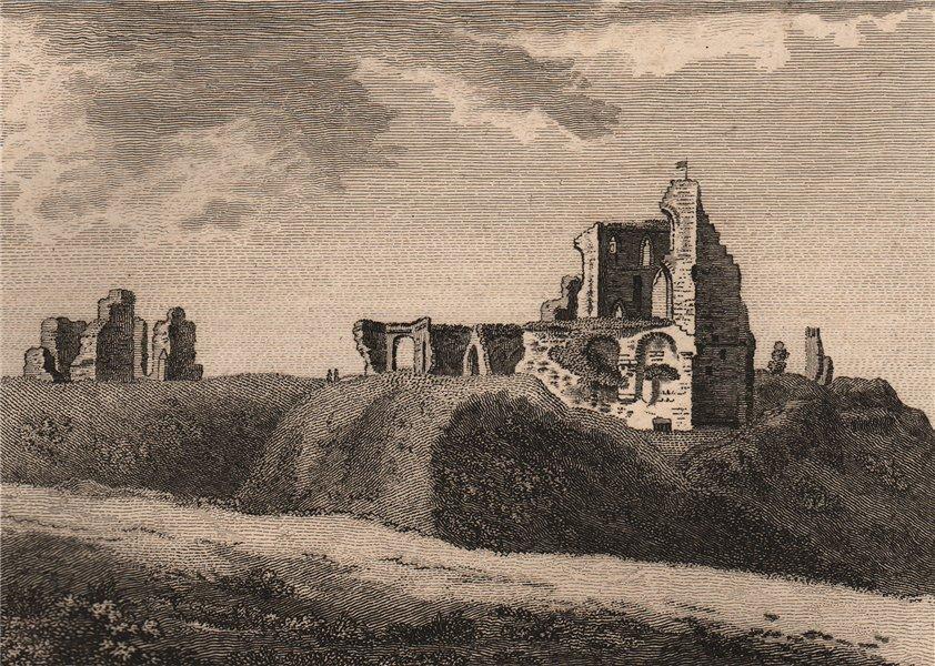 KNARESBROUGH CASTLE, Yorkshire. GROSE 1776 old antique vintage print picture