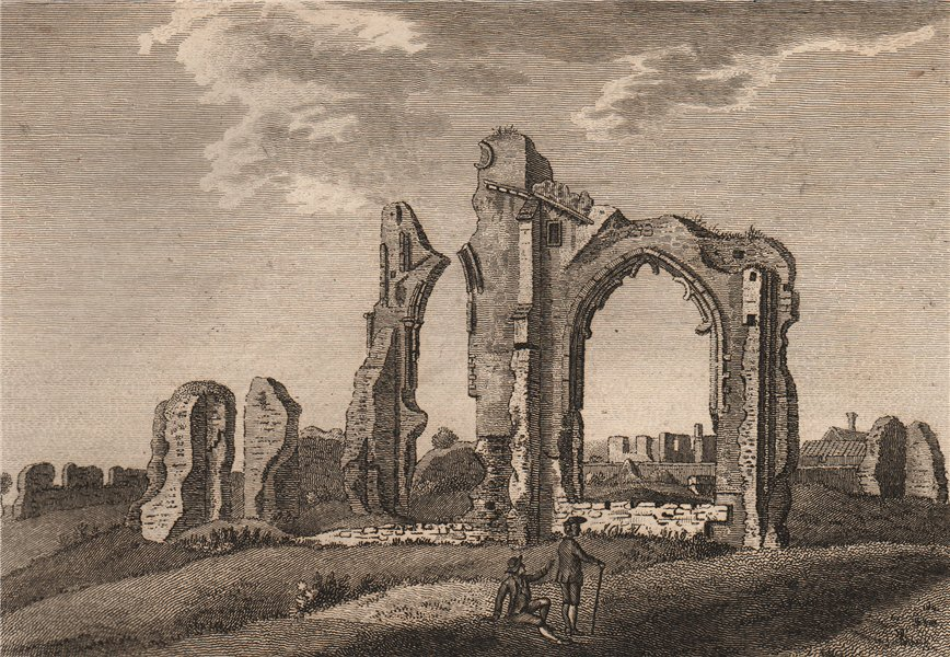 Associate Product ST. MARY'S PRIORY, Thetford, Norfolk Plate 1. GROSE 1776 old antique print
