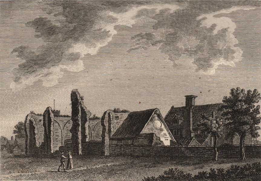 Associate Product THE PRIORY OF THE OLD HOUSE, Thetford, Norfolk. GROSE 1776 antique print