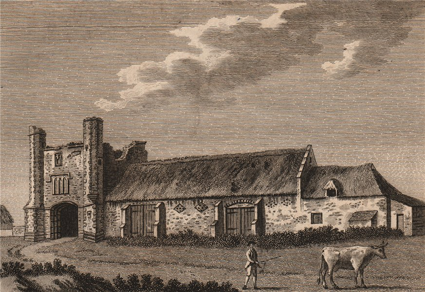 Associate Product THETFORD PRIORY. 'The Gate of St. Mary's Abbey'. Norfolk. GROSE 1776 old print