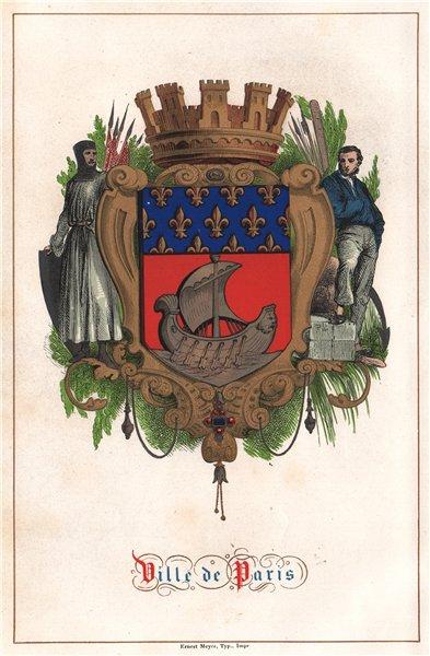 Associate Product VILLE DE PARIS. Paris 1844 old antique vintage print picture