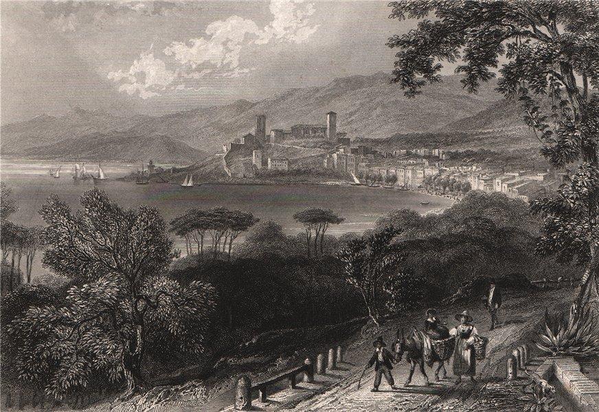 CANNES. Alpes-Maritimes 1844 old antique vintage print picture