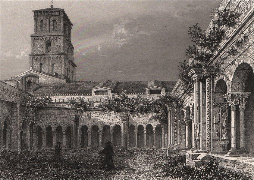 Associate Product CLOÎTRE ST. TROPHIME. (ARLES). Bouches-du-Rhône 1844 old antique print picture