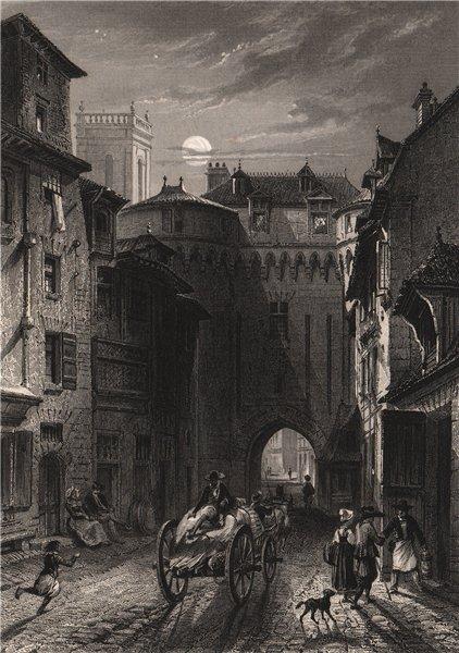 Associate Product RENNES. Porte Mordelaise. Ille-et-Vilaine 1844 old antique print picture