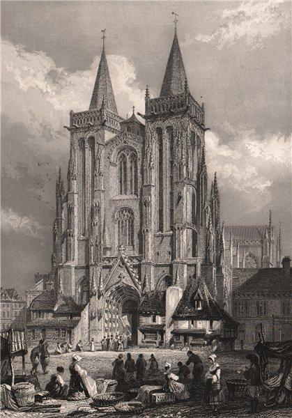Associate Product CATHÉDRALE DE QUIMPER. Finistère 1844 old antique vintage print picture