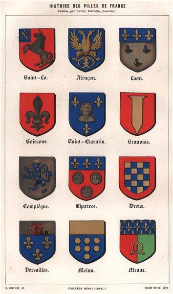 Associate Product Saint-Lo Alençon Laon Soissons Saint-Quentin Beauvais Compiègne Chartres 1844