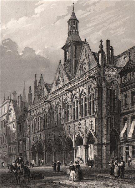 Associate Product HÔTEL DE VILLE DE ST. QUENTIN. Aisne 1844 old antique vintage print picture