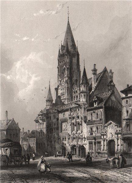 Associate Product HÔTEL DE VILLE DE COMPIÈGNE. Oise 1844 old antique vintage print picture