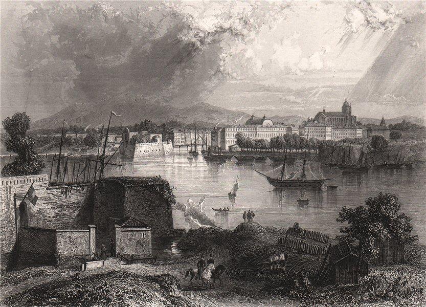 Associate Product BAYONNE. Pyrénées-Atlantiques 1844 old vintage print picture