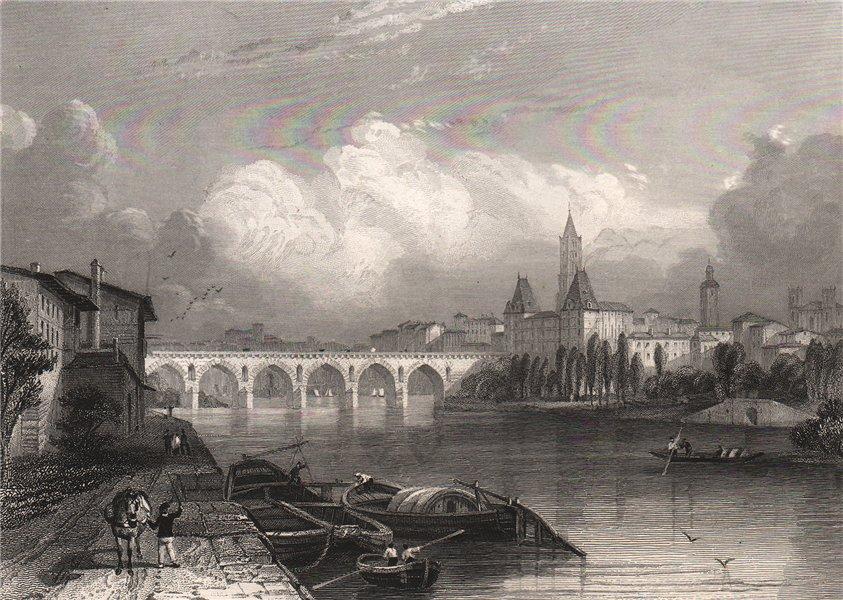 Associate Product MONTAUBAN. Tarn-et-Garonne 1844 old antique vintage print picture