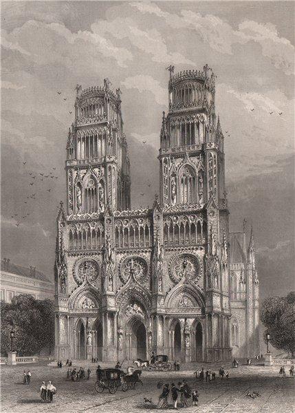 Associate Product ORLÉANS. Cathédrale. Loiret 1844 old antique vintage print picture