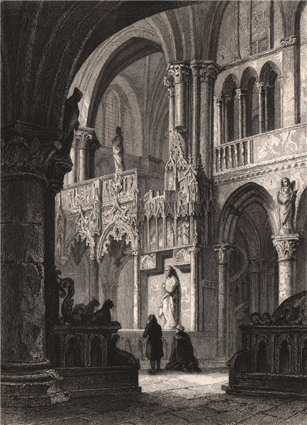 Associate Product TROYES. Cathédrale de Troyes (Le Jubé). Aube 1844 old antique print picture