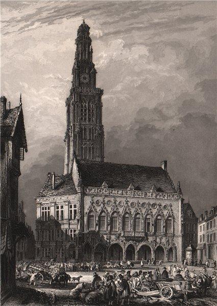 Associate Product HÔTEL DE VILLE D'ARRAS. Pas-de-Calais 1844 old antique vintage print picture
