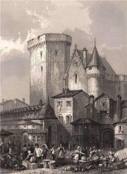 Associate Product ANGOULÊME. Place du Marché. Charente 1844 old antique vintage print picture
