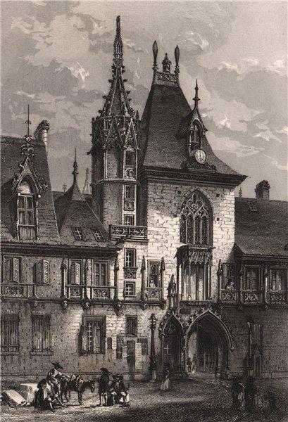 Associate Product BOURGES. Maison de Jacques-Coeur. Cher 1844 old antique vintage print picture