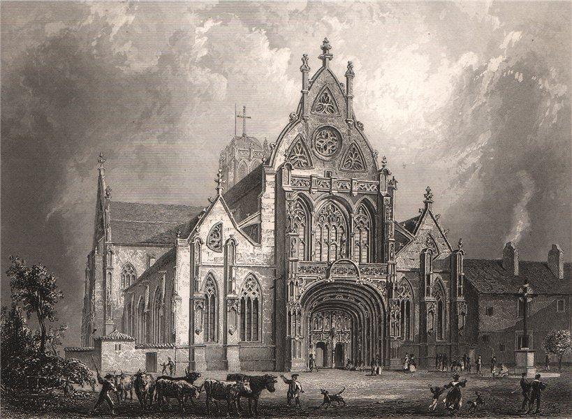 Associate Product BRESSE. Église de Brou. Ain 1844 old antique vintage print picture