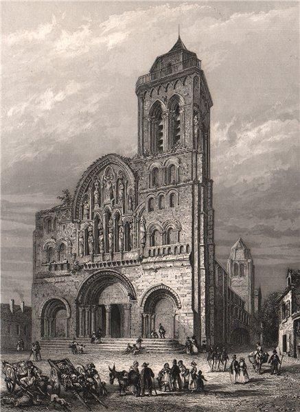 Associate Product VÉZELAY. Église de La Madeleine Nivernais. Yonne 1844 old antique print
