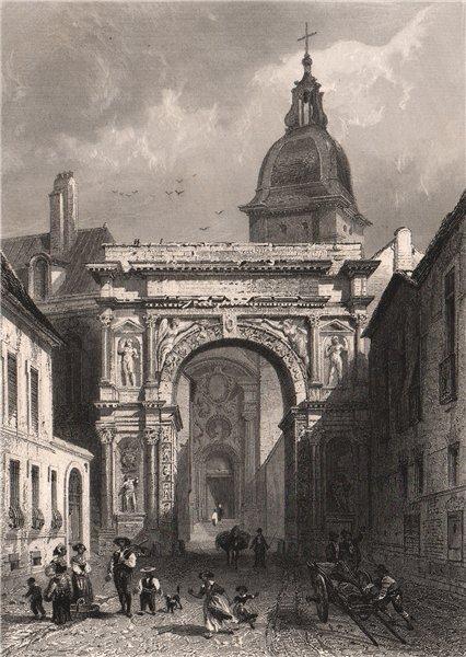 Associate Product BESANÇON. Arc de Triomphe Romain. Doubs 1844 old antique vintage print picture