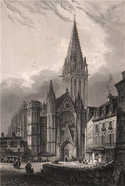 Associate Product ST. PIERRE DE CAEN. Calvados 1844 old antique vintage print picture