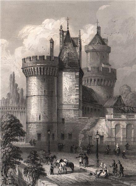 Associate Product LE CHÂTEAU D'ALENÇON. Orne 1844 old antique vintage print picture