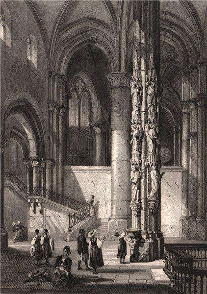 Associate Product CATHÉDRALE DE STRASBOURG. Bas-Rhin 1844 old antique vintage print picture