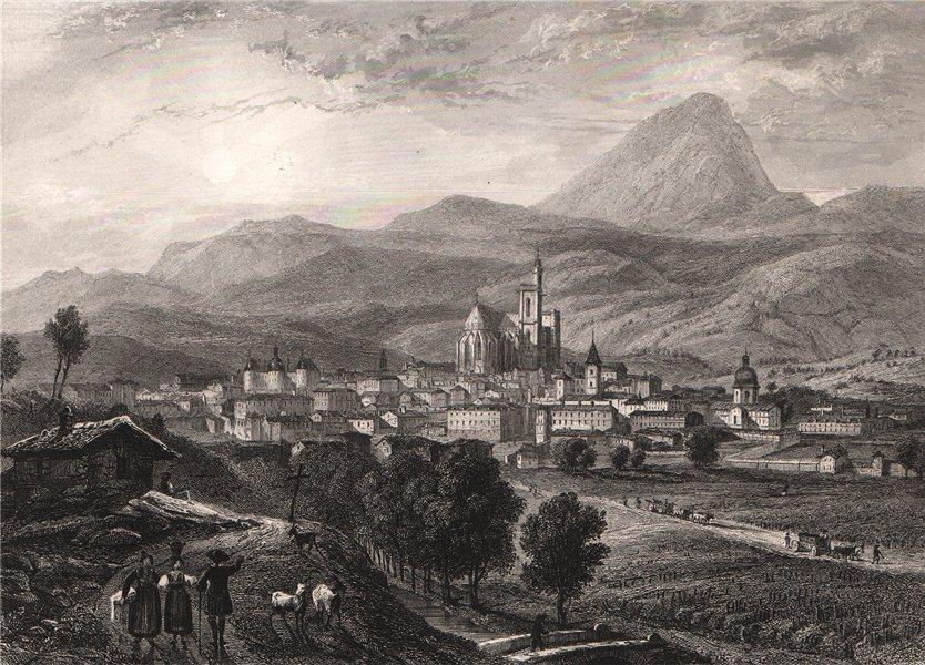Associate Product CLERMONT-FERRAND. Puy-de-Dôme 1844 old antique vintage print picture