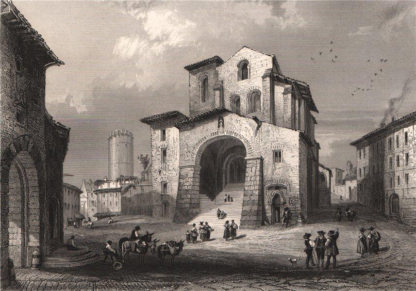 Associate Product CATHÉDRALE DE THIERS. Puy-de-Dôme 1844 old antique vintage print picture
