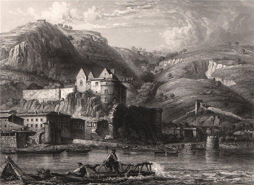 Associate Product TOURNON-SUR-RHÔNE. Vivarais. Ardèche 1844 old antique vintage print picture