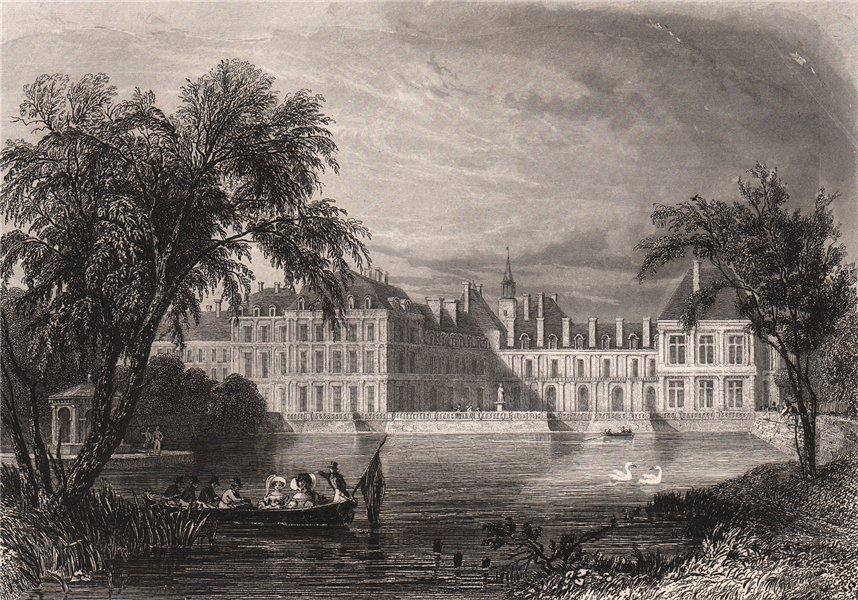 FONTAINEBLEAU. Seine-et-Marne 1844 old antique vintage print picture