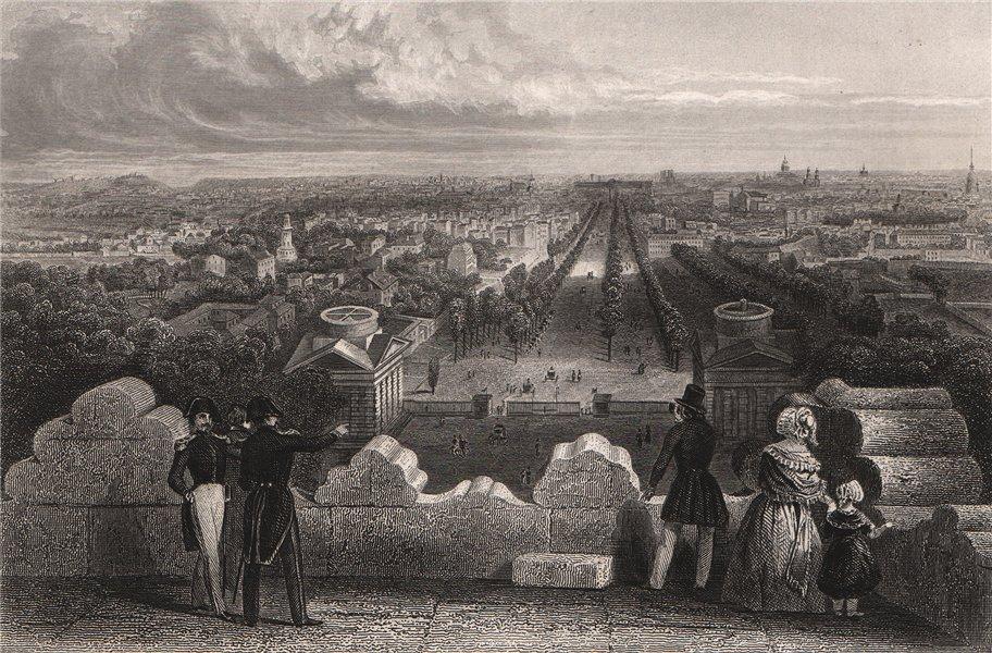 Associate Product PARIS. Vue Générale. Paris 1844 old antique vintage print picture