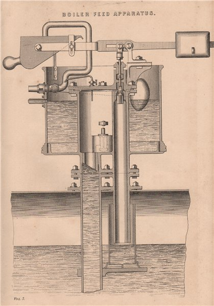 Associate Product Boiler Feed Apparatus 1880 old antique vintage print picture