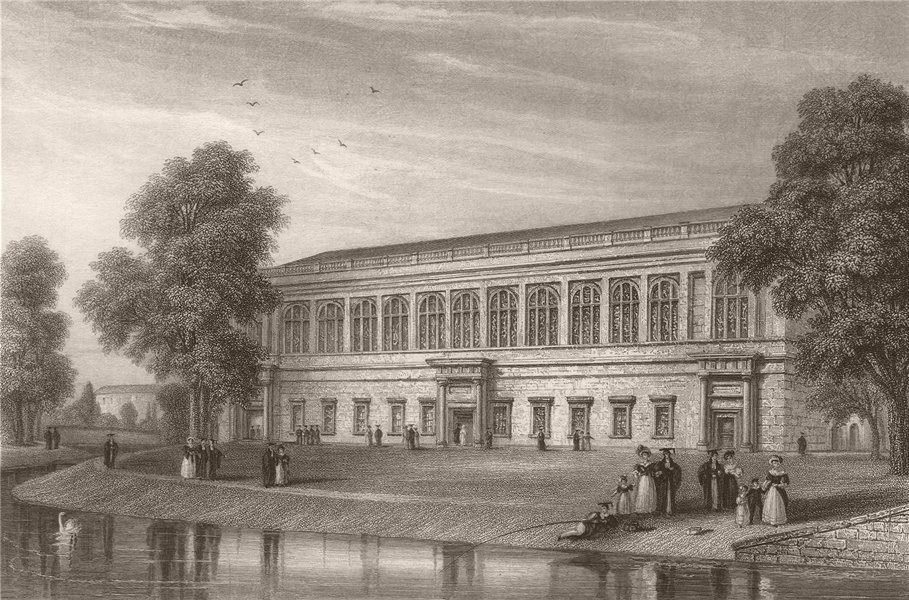 Associate Product The Wren Library, TRINITY COLLEGE, Cambridge. LE KEUX 1841 old antique print