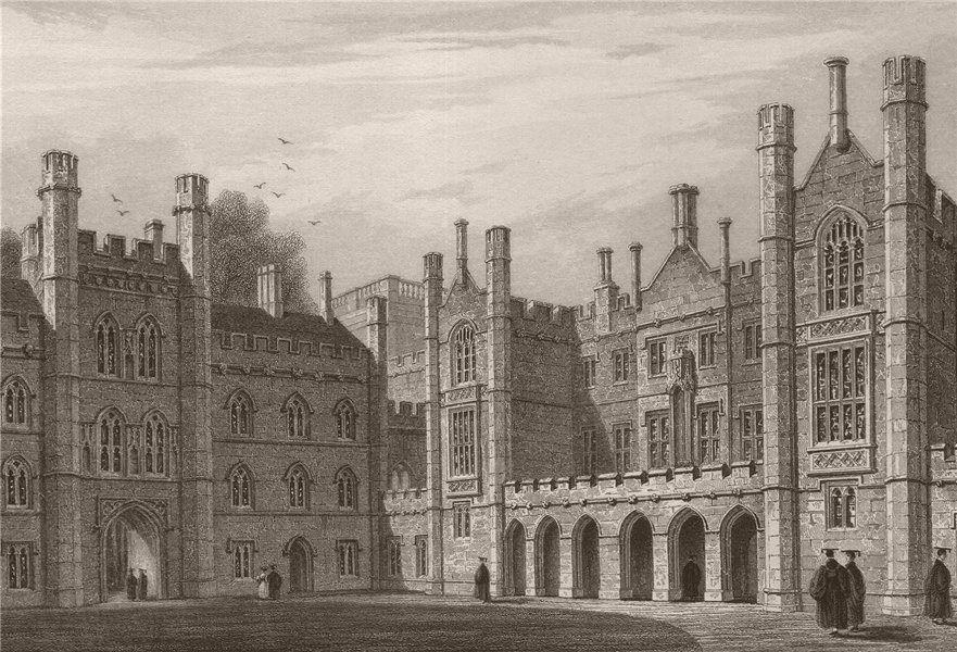 Associate Product New Court, TRINITY COLLEGE, Cambridge. LE KEUX 1841 old antique print picture