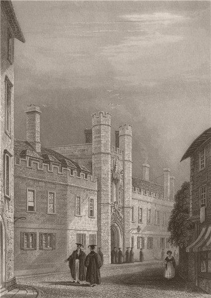 Associate Product CHRIST'S COLLEGE, Cambridge. LE KEUX 1841 old antique vintage print picture