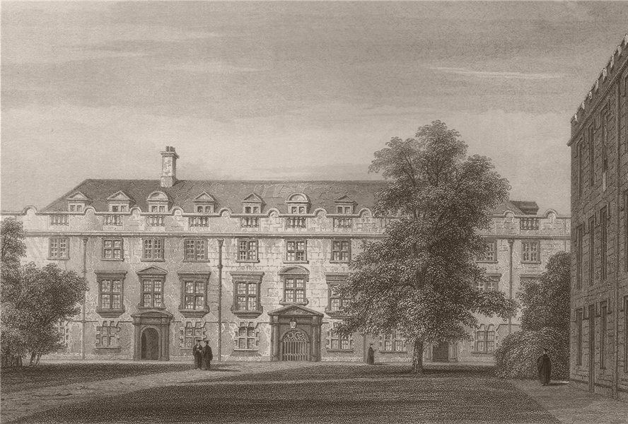Associate Product The Second Court, CHRIST'S COLLEGE, Cambridge. LE KEUX 1841 old antique print