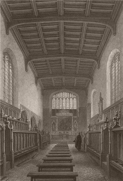 Associate Product The Chapel, ST. JOHN'S COLLEGE, Cambridge. LE KEUX 1841 old antique print