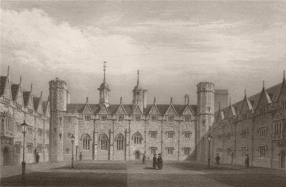 Associate Product The Second Court, ST. JOHN'S COLLEGE, Cambridge. LE KEUX 1841 old print