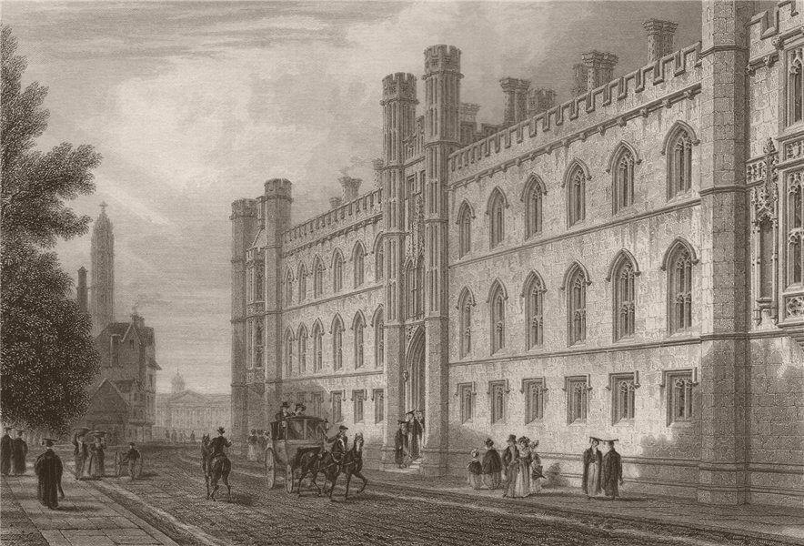 Associate Product CORPUS CHRISTI COLLEGE, Cambridge. LE KEUX 1841 old antique print picture