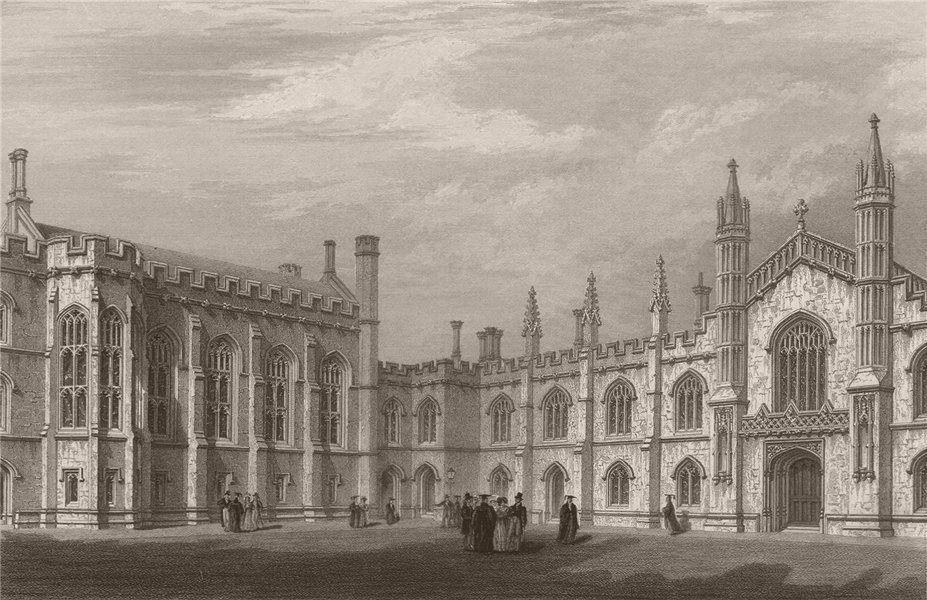 Associate Product Quadrangle of CORPUS CHRISTI COLLEGE, Cambridge. LE KEUX 1841 old print