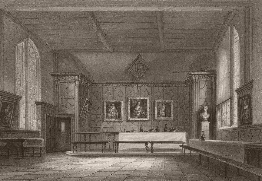 Associate Product The Hall, PEMBROKE COLLEGE, Cambridge. LE KEUX 1841 old antique print picture