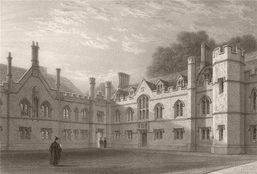 Associate Product Gisborne Court, PETERHOUSE, Cambridge. St Peter's College. LE KEUX 1841 print