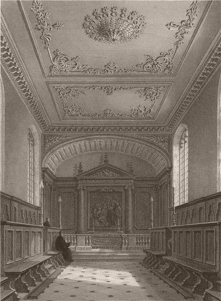 Associate Product The Chapel, MAGDALEN COLLEGE, Cambridge. LE KEUX 1841 old antique print