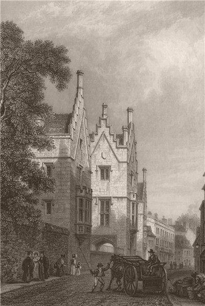 Associate Product SIDNEY SUSSEX COLLEGE, Cambridge. LE KEUX 1841 old antique print picture