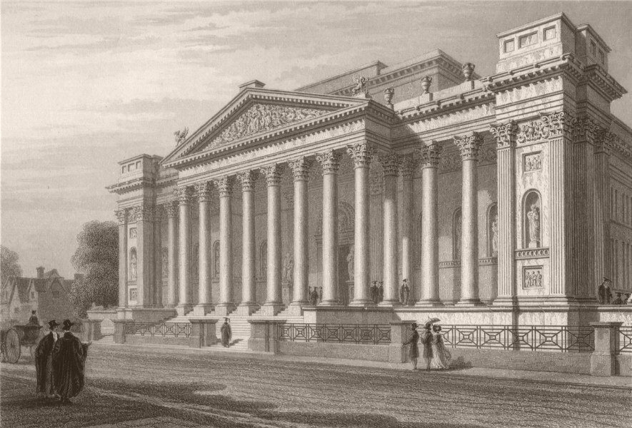 Associate Product The new FITZWILLIAM MUSEUM, Cambridge. LE KEUX 1841 old antique print picture