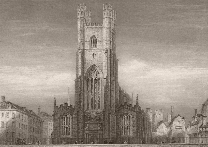 Associate Product CAMBRIDGE. Great St. Mary's Church, Exterior. LE KEUX 1841 old antique print