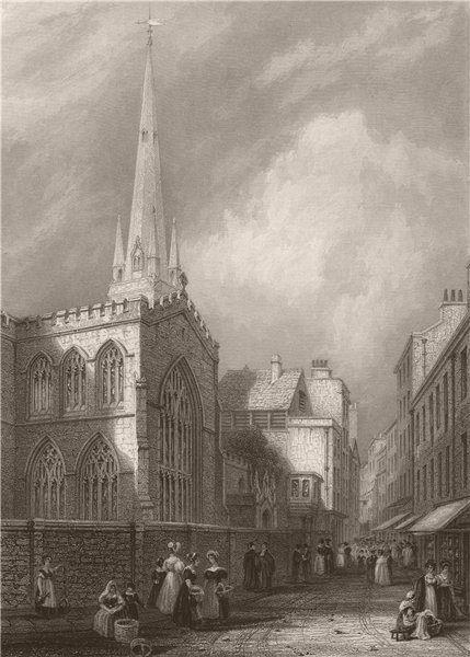 Associate Product CAMBRIDGE. Trinity Church. LE KEUX 1841 old antique vintage print picture