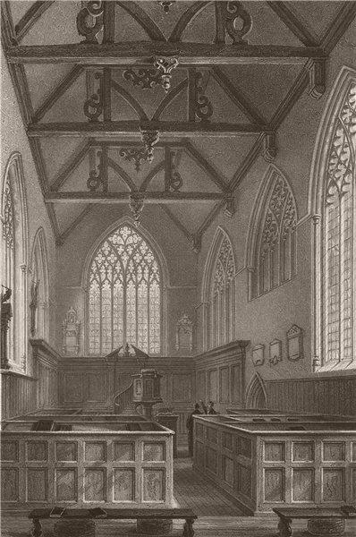 Associate Product CAMBRIDGE. Little St. Marys Church. LE KEUX 1841 old antique print picture